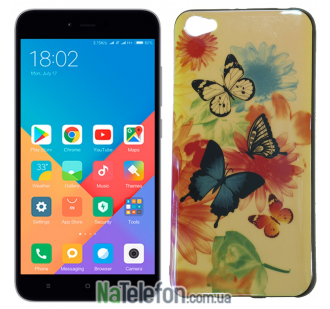 Чехол U-Like Picture series для Xiaomi Redmi Note 5a Butterfly