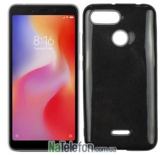 Чехол Silicone 3in1 Блёстки для Xiaomi Redmi 6 Black