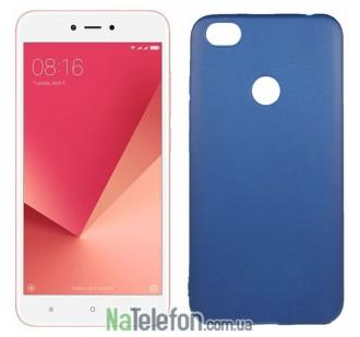 Чехол Original Silicone Case для Xiaomi Redmi Note 5a Prime Blue