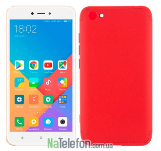 Чехол LikGus 360 градусов для Xiaomi Redmi Note 5A / Redmi Y1 Lite (Красный)