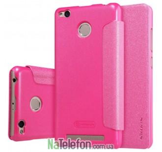 Чехол книжка NILLKIN Sparkle series Xiaomi Redmi 3s/3x/3 Pro Pink