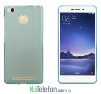 Силиконовый чехол Original Silicon Case Xiaomi Redmi 3x/3s/3 Pro Blue