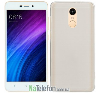 Чехол Ultra Thin Silicone Remax 0.2 mm для Xiaomi Redmi Note 4 White