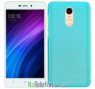 Силиконовый чехол Original Silicon Case Xiaomi Redmi Note 4 Blue