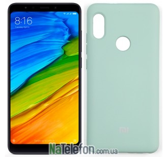 Чехол Original Soft Case для Xiaomi Redmi Note 5 Pro Голубой FULL
