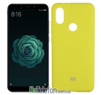 Чехол Original Soft Case для Xiaomi Mi6x/Mi A2 Ярко Жёлтый FULL