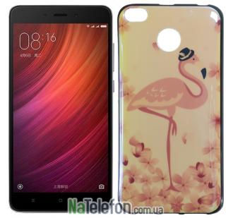 Чехол U-Like Picture series для Xiaomi Redmi 4x Flamingo