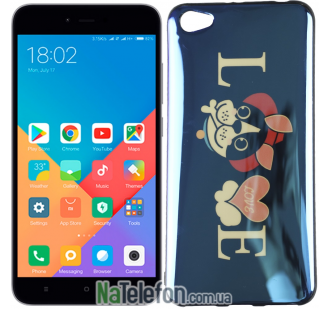 Чехол U-Like Picture series для Xiaomi Redmi Note 5a Love Balck
