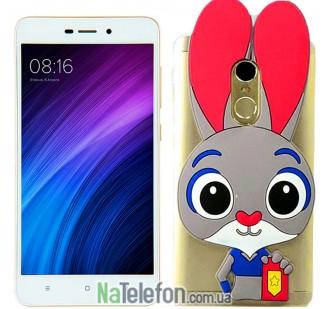 Силиконовый чехол Зверополис Rabbit Xiaomi Redmi Note 4x
