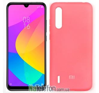 Чехол силиконовый оригинальный Xiaomi Mi9 Lite Ярко Розовый FULL