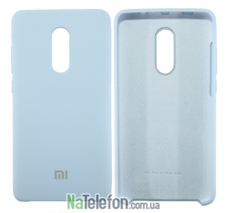 Чехол Original Soft Case на Xiaomi Redmi Note 4x Голубой
