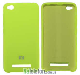 Чехол Original Soft Case для Xiaomi Redmi 4a Ярко Салатовый