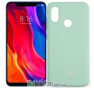 Чехол Original Soft Case для Xiaomi Mi8 Голубой FULL