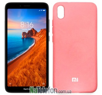 Чехол Original Soft Case для Xiaomi Redmi 7a Розовый FULL