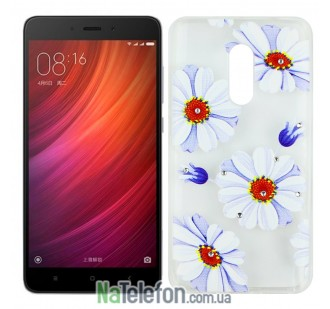 Чехол Lucent Diamond для Xiaomi Redmi Note 4 Daisy (Blue)