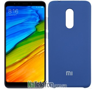 Чехол Original Soft Case для Xiaomi Redmi 5 Тёмно Синий