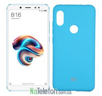 Чехол Original Soft Case для Xiaomi Redmi Note 5 Pro Ярко Синий