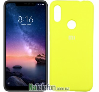 Чехол Original Soft Case для Xiaomi Redmi Note 6 Pro Желтый