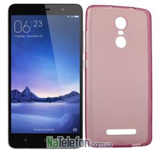 Чехол Ultra Thin Silicone Remax 0.2 mm для Xiaomi Redmi Note 3 Pink
