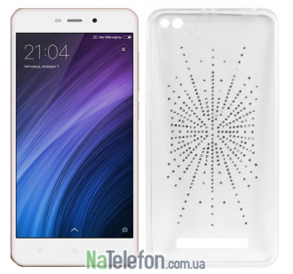Чехол Diamond Silicon Younicou для Xiaomi Redmi 4a Silver Shine
