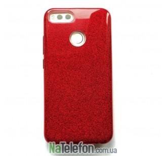 Силиконовый чехол Silicone 3in1 Блёстки для Xiaomi Mi5X/MiA1 Red