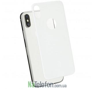 Защитное стекло для APPLE iPhone X/Xs (0.3 мм, 4D белое) на заднюю сторону