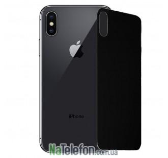 Защитное стекло для APPLE iPhone X/Xs (0.3 мм, 4D чёрное) на заднюю сторону