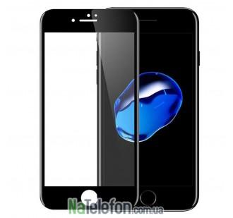Защитное стекло для APPLE iPhone 7/8 чёрное (0.3 мм, 2.5D) комплект 2 шт.