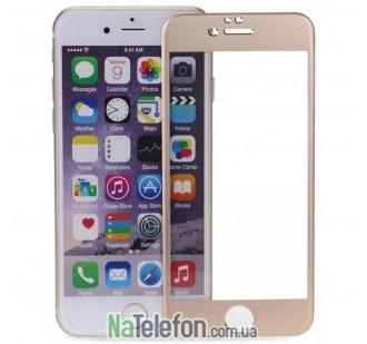 Защитное стекло для APPLE iPhone 6 Plus (0.3 мм, 4D/5D золотистое)