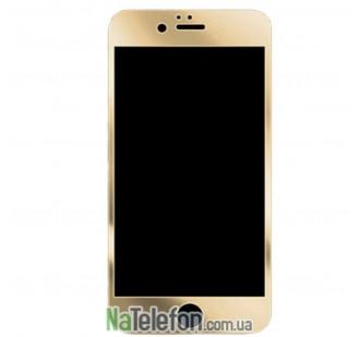 Защитное стекло для APPLE iPhone 7/8 Plus золотистое (0.3 мм, 2.5D) комплект 2 шт.