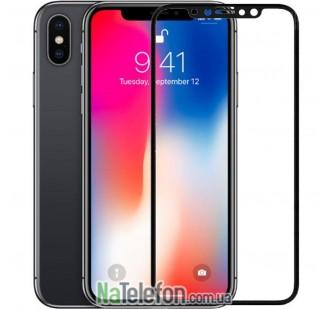 Защитное стекло для APPLE iPhone X/Xs (0.3 мм, 4D/5D черное)