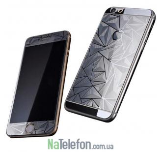 Защитное стекло для APPLE iPhone 6/6S призма чёрное (0.3 мм, 2.5D) комплект 2 шт.