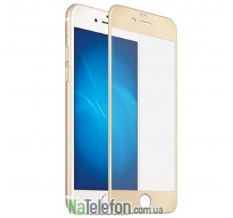 Защитное стекло для APPLE iPhone 7/8 (0.3 мм, 4D/5D золотистое)