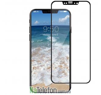 Защитное стекло для APPLE iPhone X/Xs (0.3 мм, 4D/5D матовое чёрное)