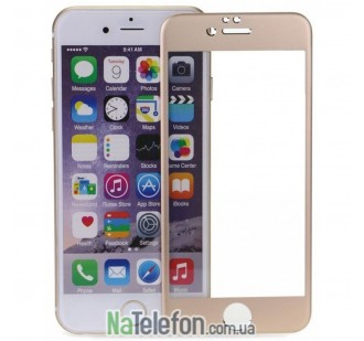 Защитное стекло для APPLE iPhone 6 (0.3 мм, 4D/5D золотистое)