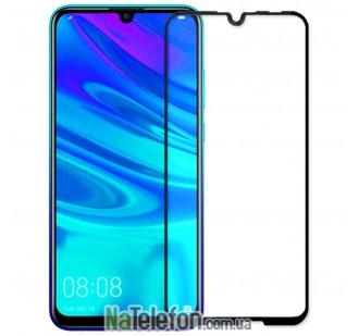Защитное стекло для HUAWEI P Smart 2019 (0.3 мм, 2.5D, с чёрным Silk Screen покрытием) FULL GLUE
