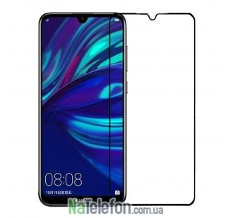 Защитное стекло для HUAWEI Y6 2019 (0.3 мм, 2.5D, с чёрным Silk Screen покрытием) FULL GLUE