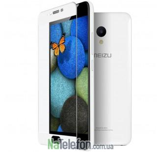 Защитное стекло для MEIZU M5 (0.3 мм, 2.5D, с белым Silk Screen покрытием)