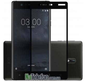 Защитное стекло для Nokia 3 (0.3 мм, 2.5D, с чёрным Silk Screen покрытием)