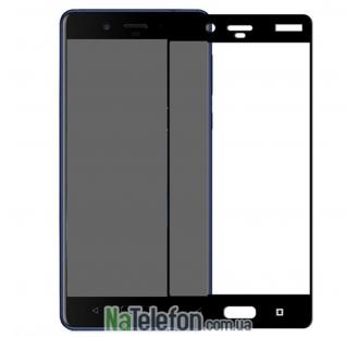 Защитное стекло для Nokia 8 (0.3 мм, 2.5D, с чёрным Silk Screen покрытием)