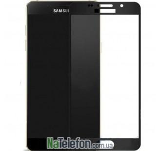 Защитное стекло для SAMSUNG A710 Galaxy A7 (2016) (0.3 мм, 2.5D, с чёрным Silk Screen покрытием)