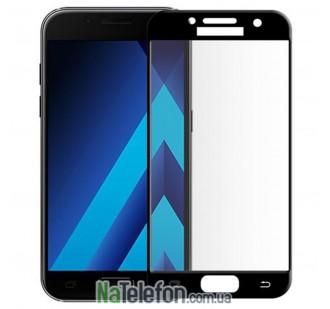 Защитное стекло для SAMSUNG A320 Galaxy A3 (2017) (0.3 мм, 5D чёрное)