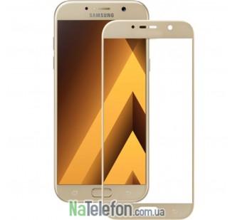 Защитное стекло для SAMSUNG A720 Galaxy A7 (2017) (0.3 мм, 5D золотистое)
