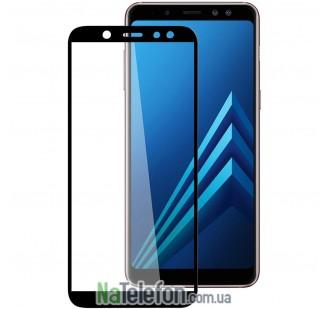 Защитное стекло для SAMSUNG A600 Galaxy A6 (2018) (0.3 мм, 2.5D, с чёрным Silk Screen покрытием) FULL GLUE