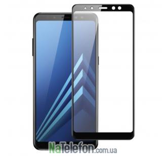 Защитное стекло для SAMSUNG A730 Galaxy A8 Plus (2018) (0.3 мм, 2.5D, с чёрным Silk Screen покрытием) FULL GLUE