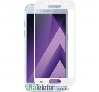 Защитное стекло для SAMSUNG A720 Galaxy A7 (2017) (0.3 мм, 5D белое)