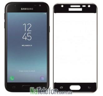 Защитное стекло для SAMSUNG J330 Galaxy J3 (2017) (0.3 мм, 2.5D, с чёрным Silk Screen покрытием)