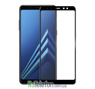 Защитное стекло для SAMSUNG A530 Galaxy A8 (2018) (0.3 мм, 5D чёрное)