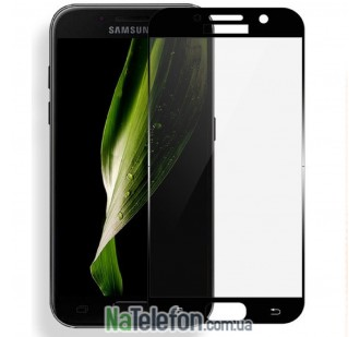 Защитное стекло для SAMSUNG A720 Galaxy A7 (2017) (0.3 мм, 2.5D, с чёрным Silk Screen покрытием)