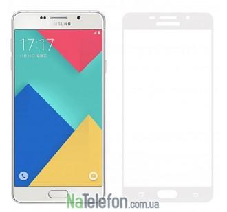 Защитное стекло для SAMSUNG A710 Galaxy A7 (2016) (0.3 мм, 2.5D, с белым Silk Screen покрытием)